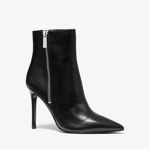 Michael Kors leather stiletto ankle boots